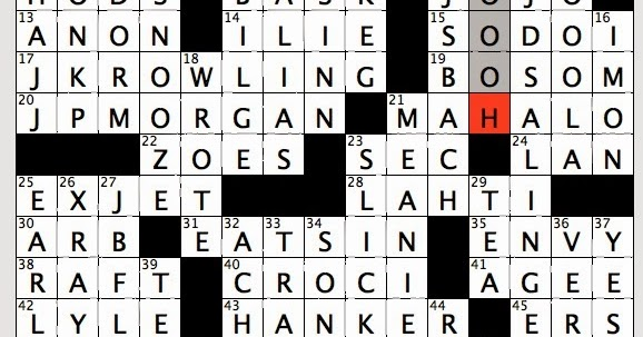 Rex Parker Does the NYT Crossword Puzzle: Pen name for ...