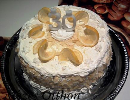 citromkrémes máktorta fehércsokoládéval fotó