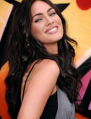 Megan Fox Dark Hair Blue Eyes