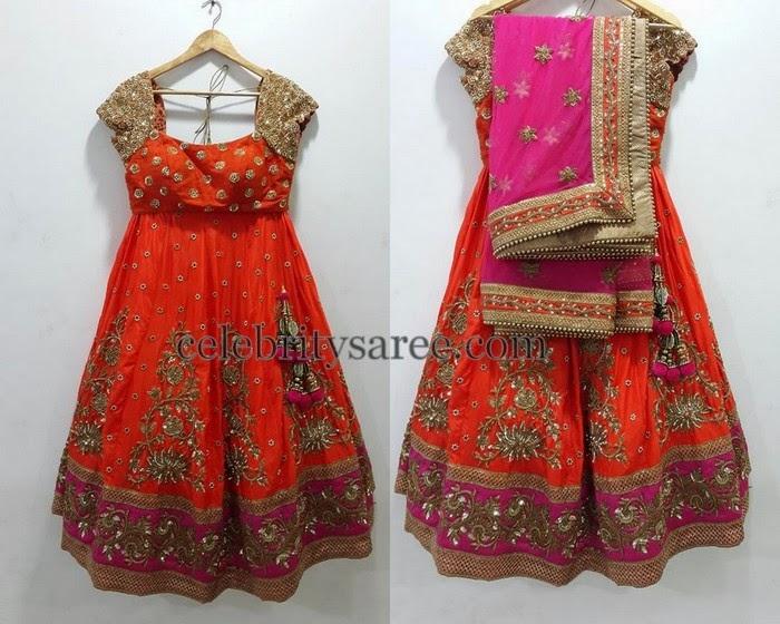 Classy Half Sari by Mrunalini Rao
