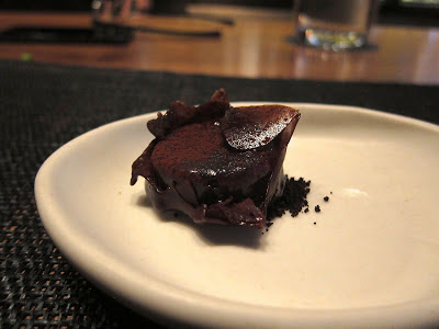 Chocolate ganache at Michael Mina SF