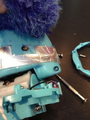 Taking apart furby