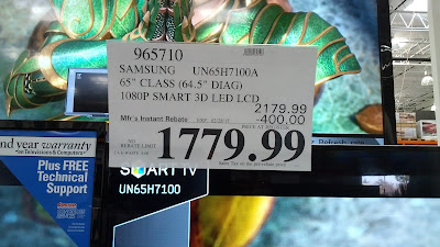 Samsung UN65H7100A 65inch 3D televsion at Costco