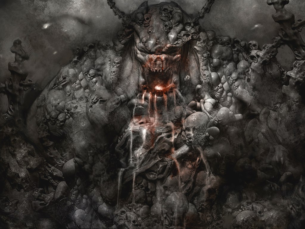 funny absurd demon wallpaper