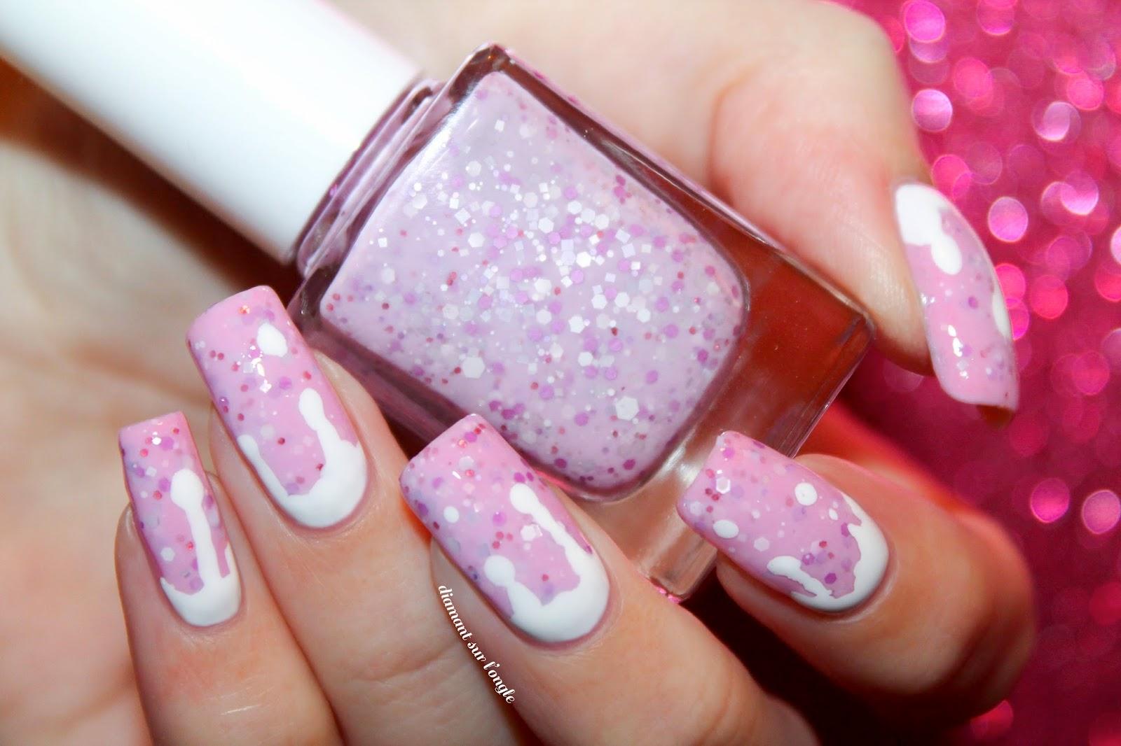 Pink Pastel Easter Nail Art