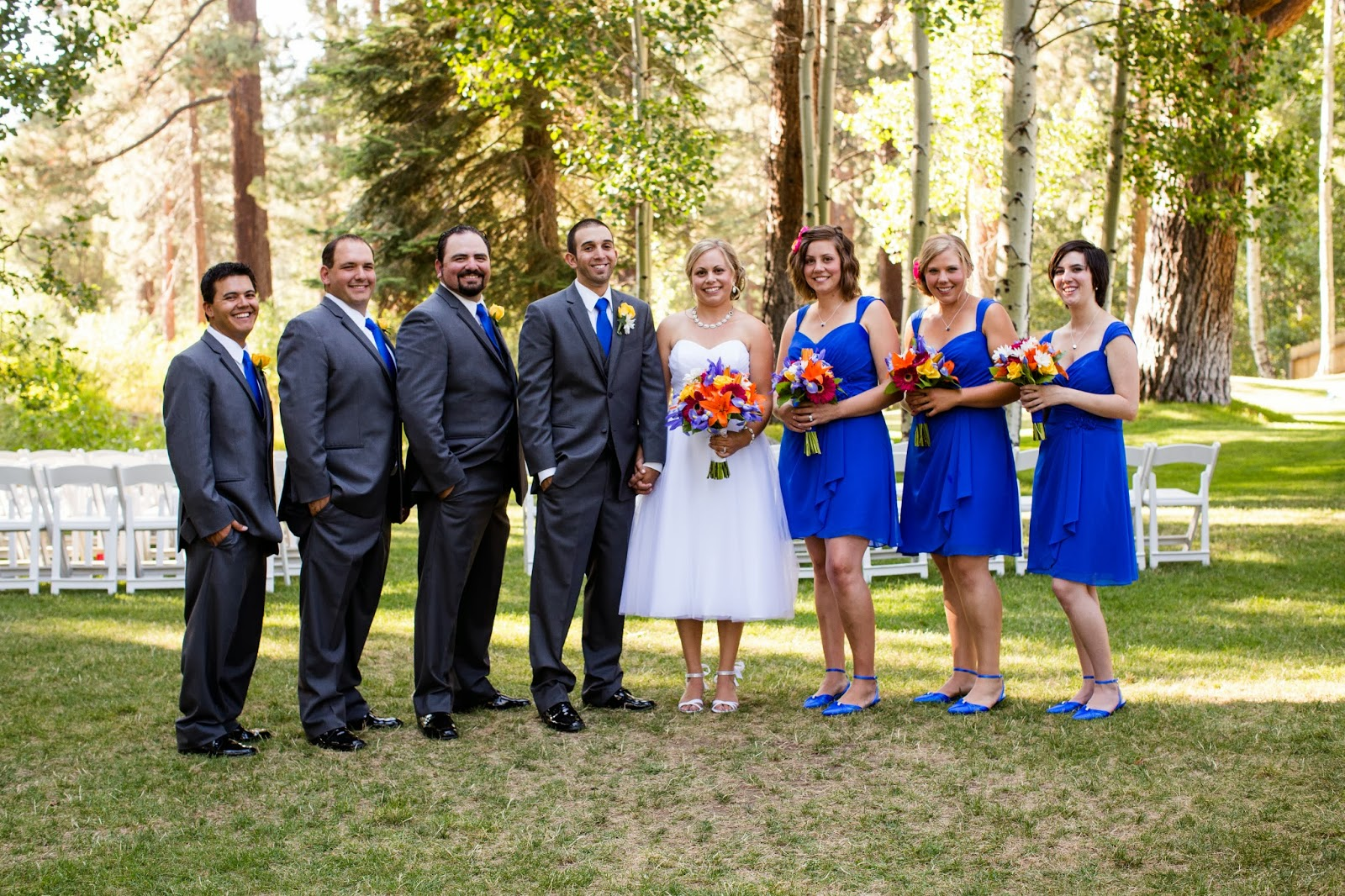 bright colored bridal party // Huong Forrest Photography // Take the Cake Event Planning