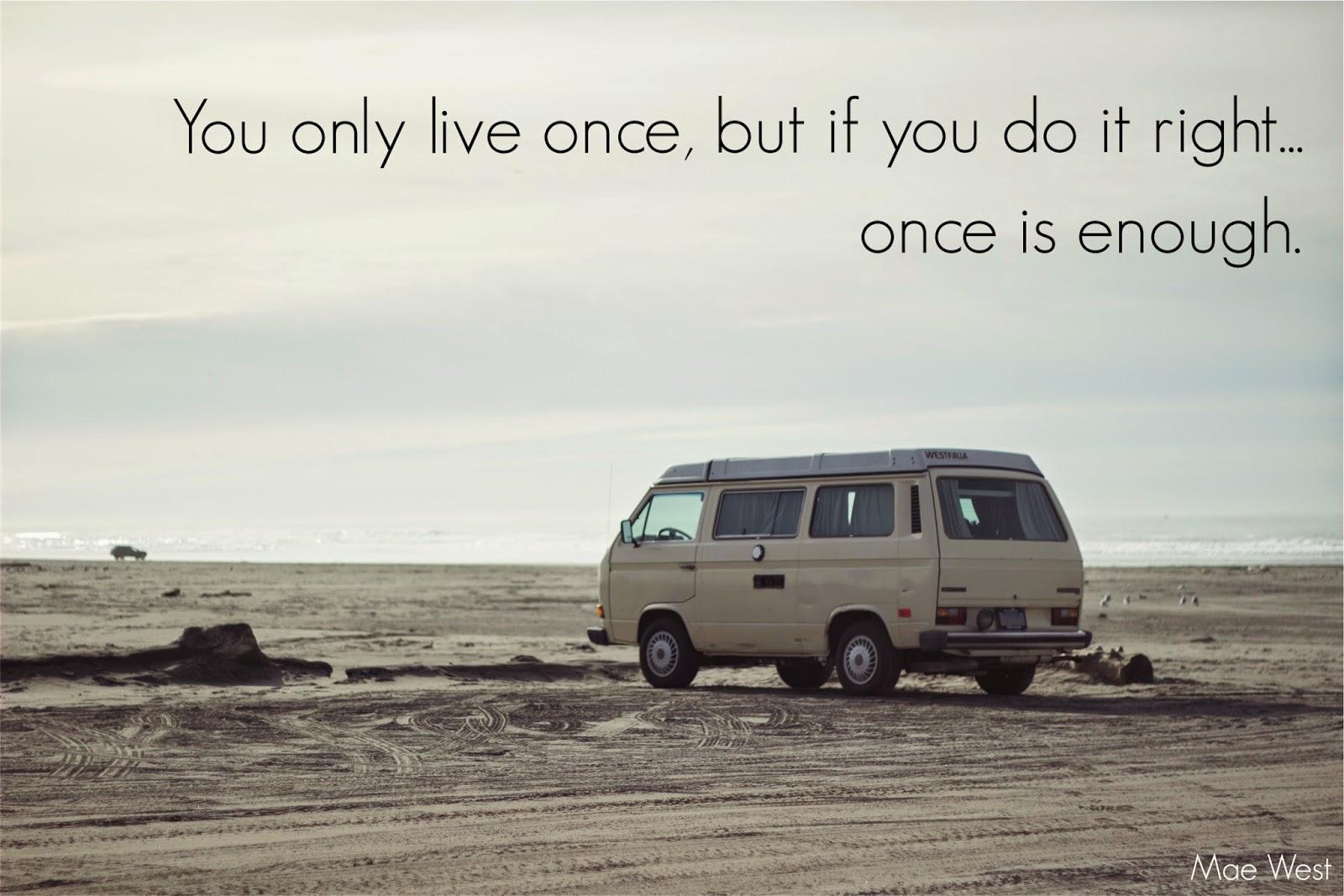 Van on a beach sunrise
