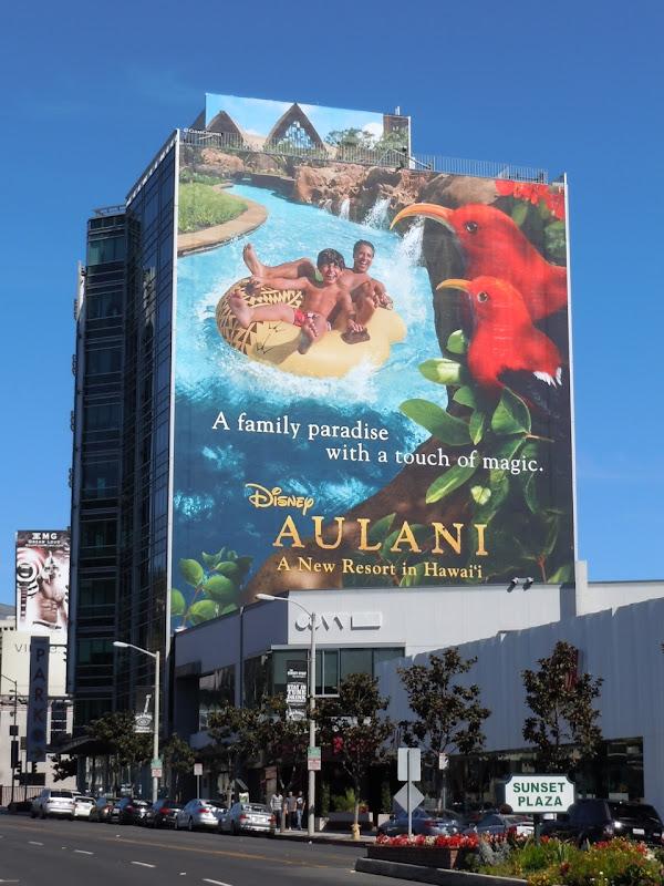 Disney Aulani Hawaii resort billboard