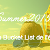 #Summer2015 - Ma Bucket List
