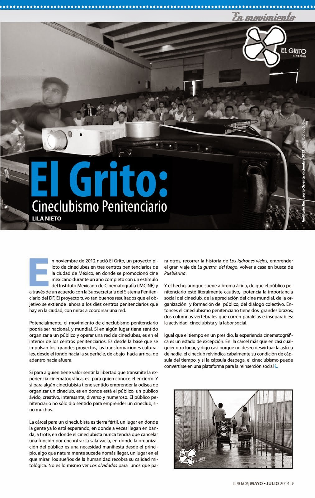 El Grito: Cineclubismo Penitenciario