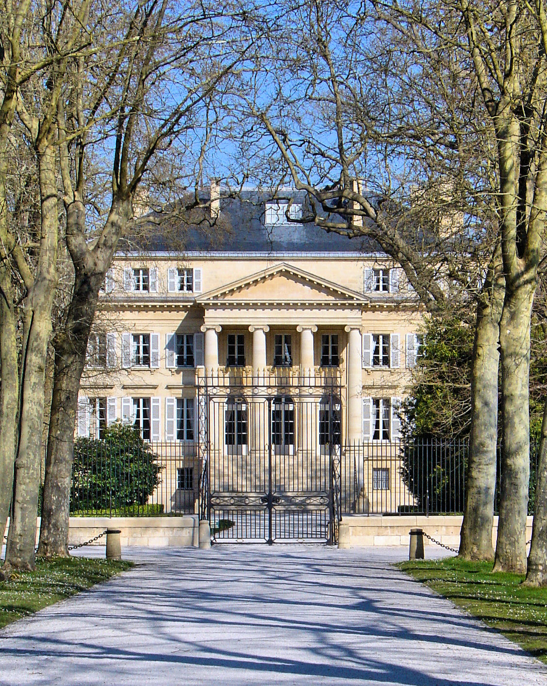 Bienvenue a Chateau Margaux—a Premier Grand Cru Classé or First Great Classified Growth.