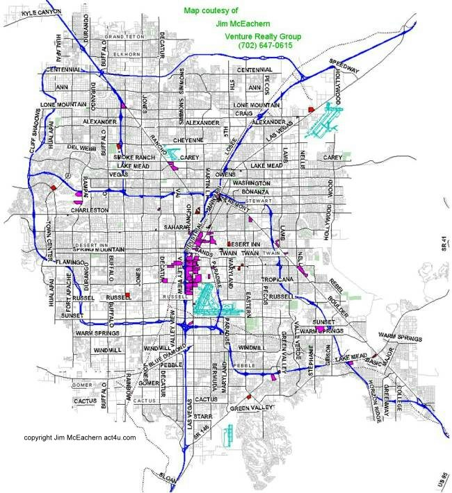 las vegas street map pdf