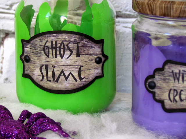 Add spooky labels to Halloween jars