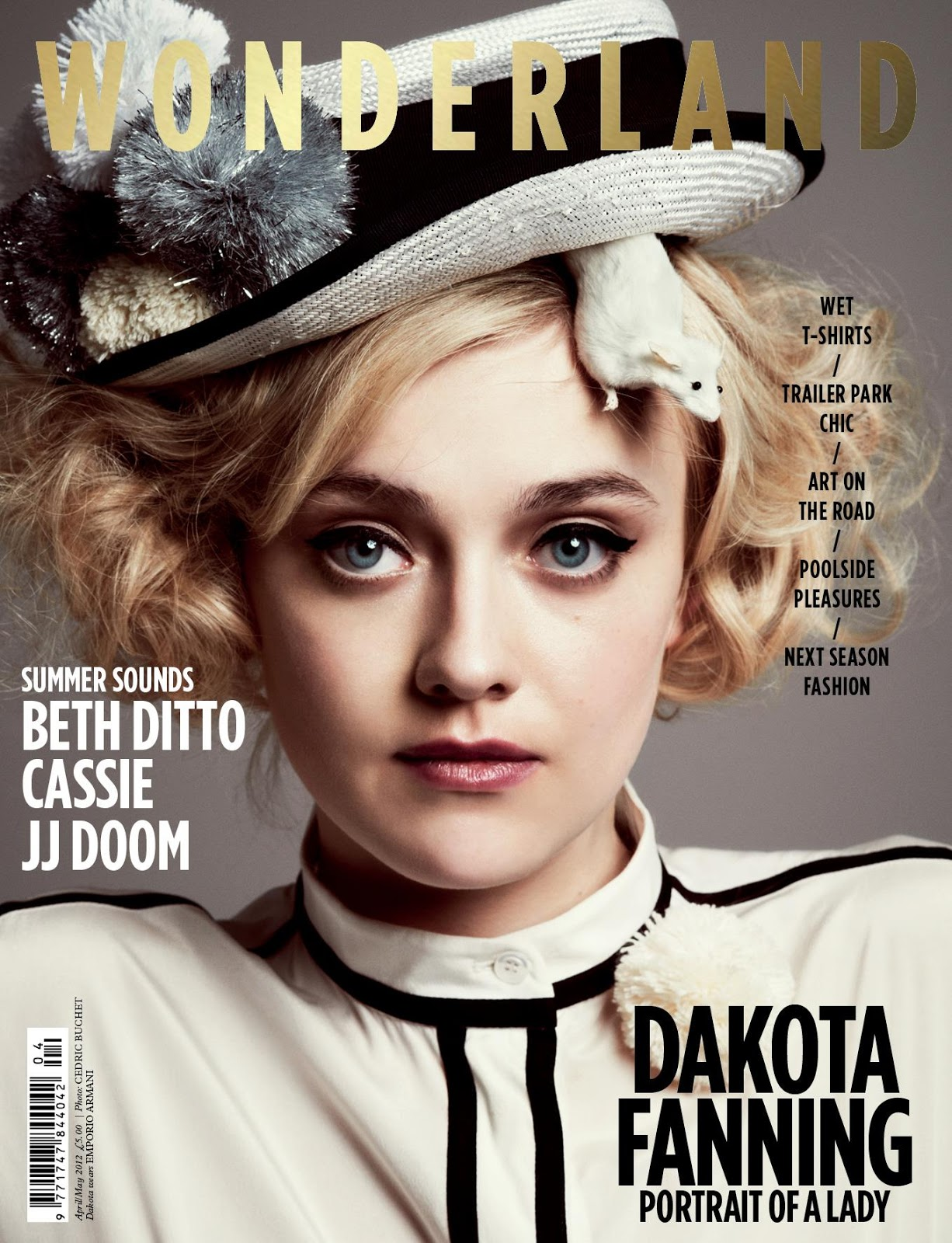 Wonderland April May 2012 Dakota Fanning by Cedric Buchet