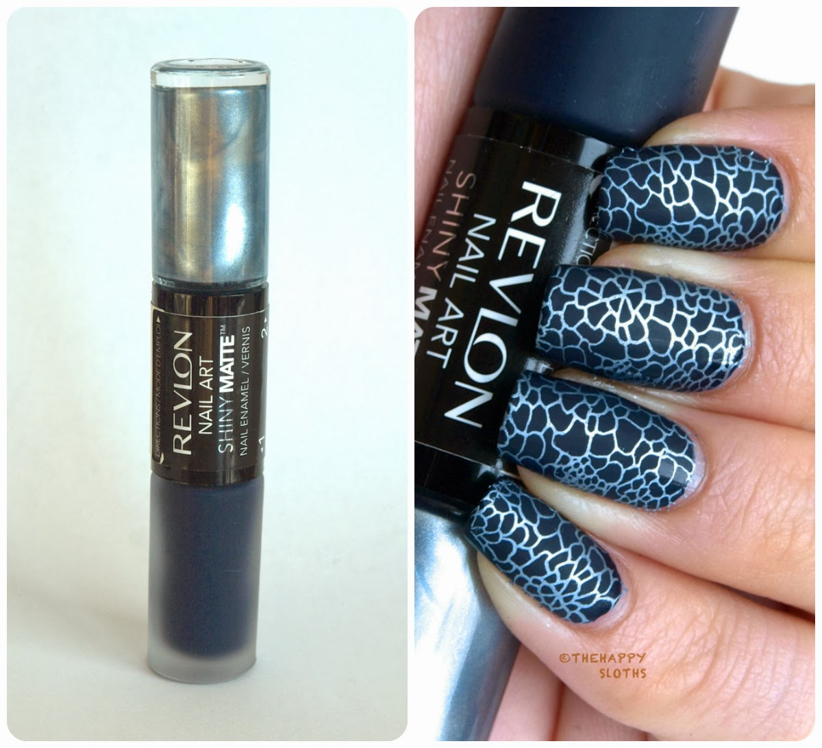 Revlon Nail Art Shiny Matte Nail Enamel In Pinstripe Review And