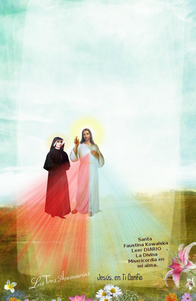 jesus con santa faustina