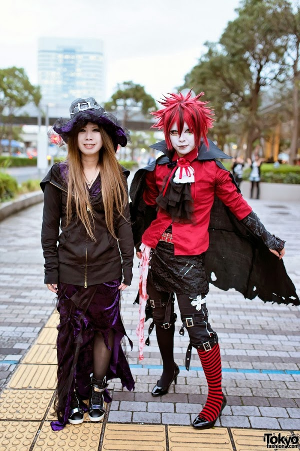 Anime style couple in costume