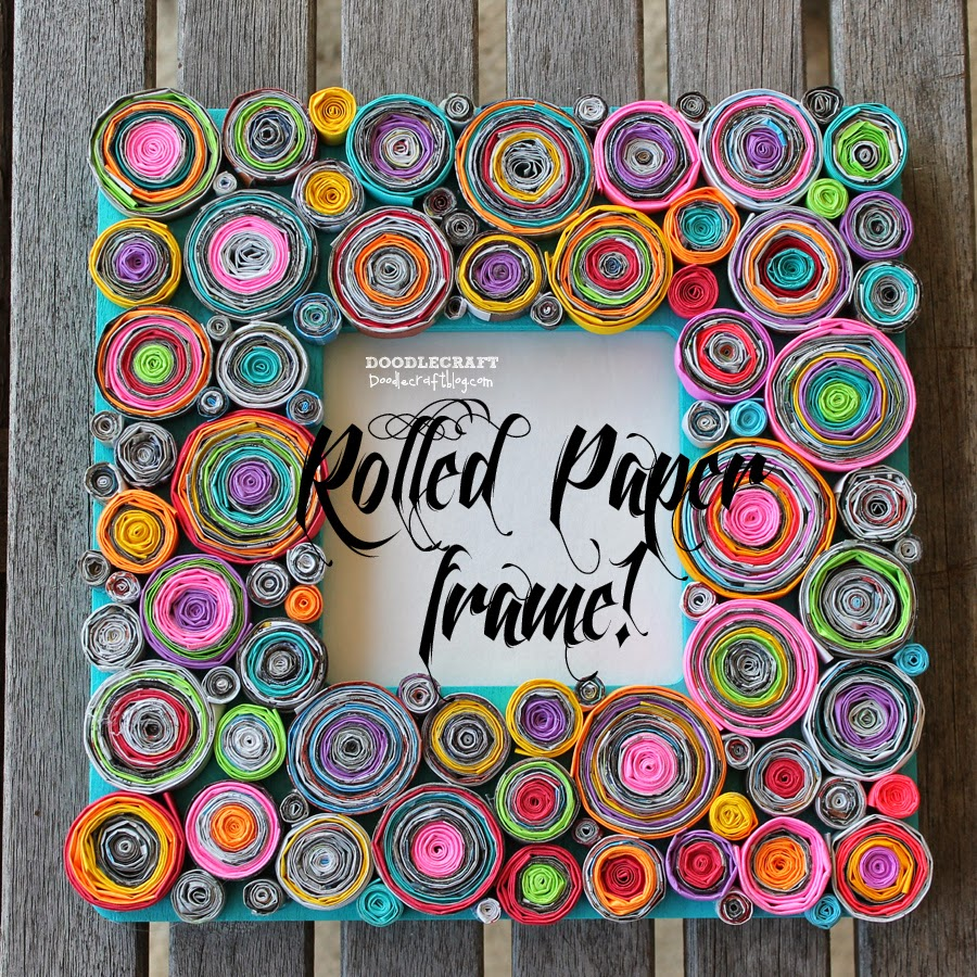 Rolled paper crafts paper crafts ideas for kids for Picture frame decorating ideas for kids