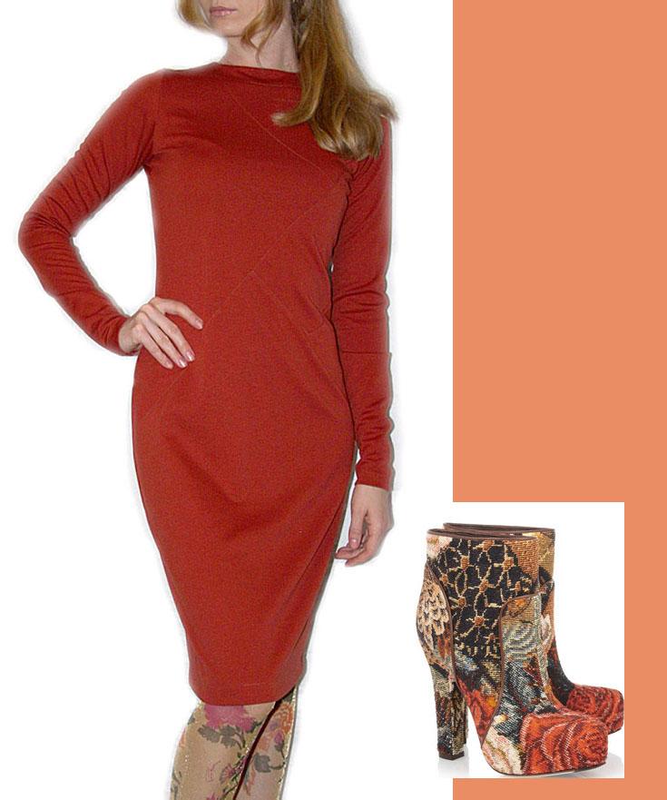 Платье x arisma плотный трикотаж сзади