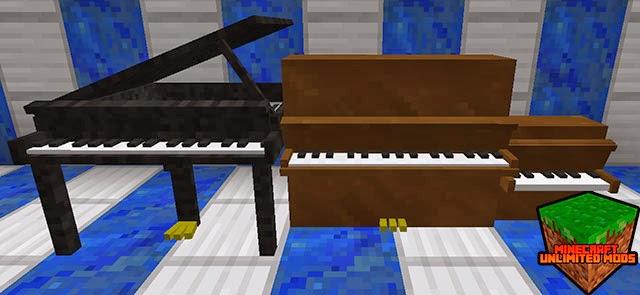 MusicCraft Mod pianos