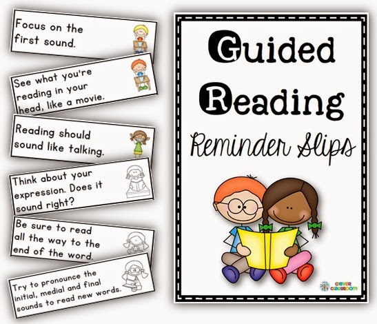 Guided Reading Reminder Slips Clever Classroom