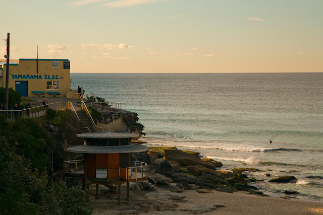 A photograph of the Tamarama Surf Life Saving Club in sydney, Australia