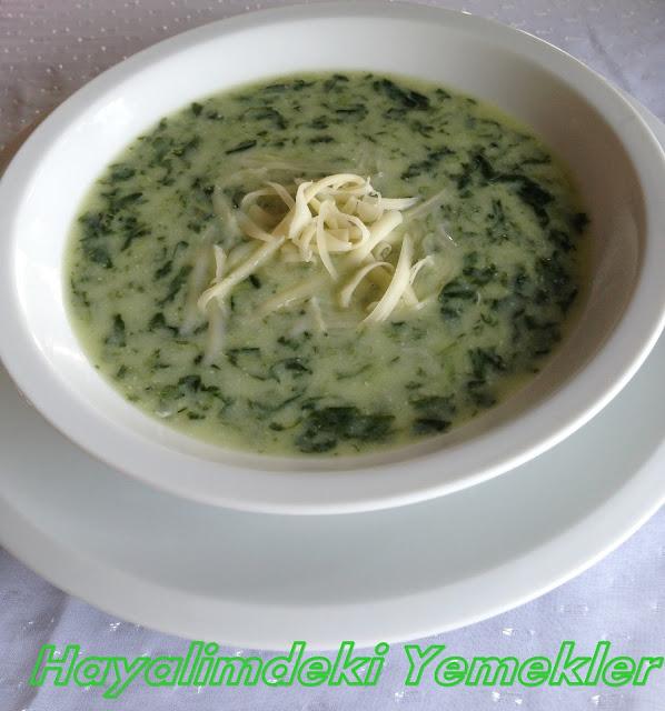 resimli Kremalı ıspanak çorbası tarifi