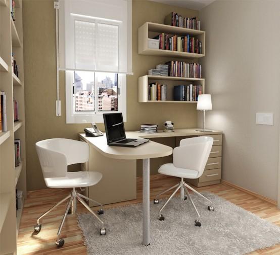 нейтральный дизайн маленькой комнаты для подростка фото рабочее место