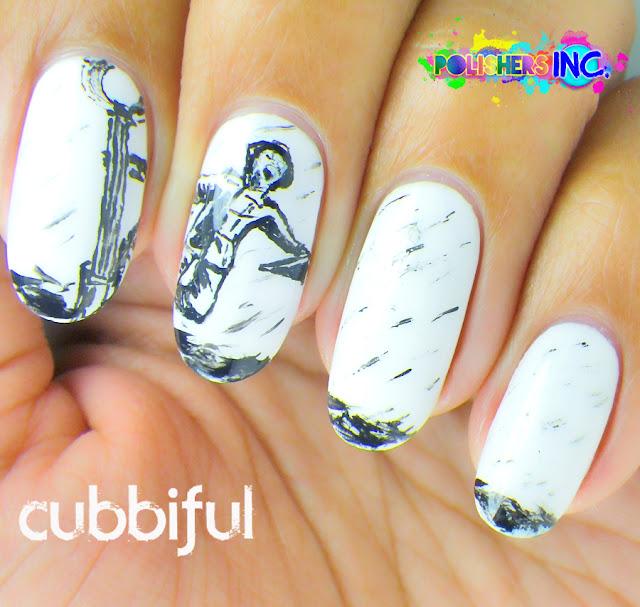 31DC2014 - Day 7: B&W Nails