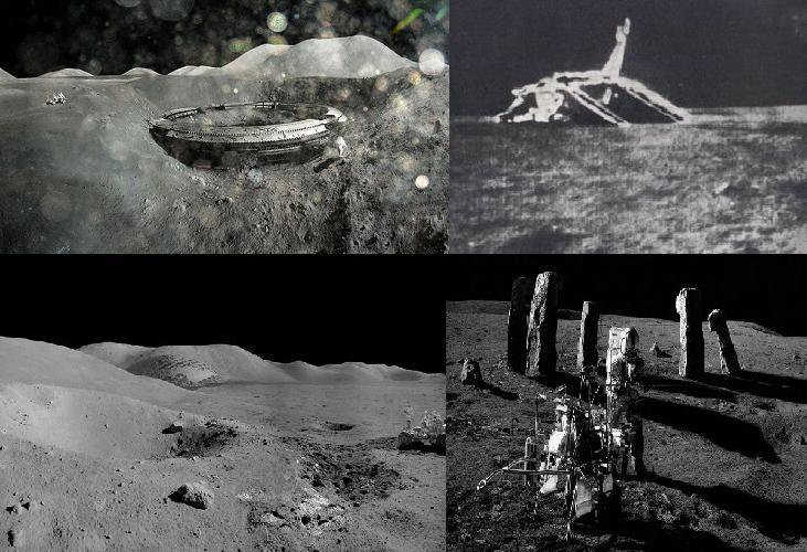 foto de construcciones en la luna