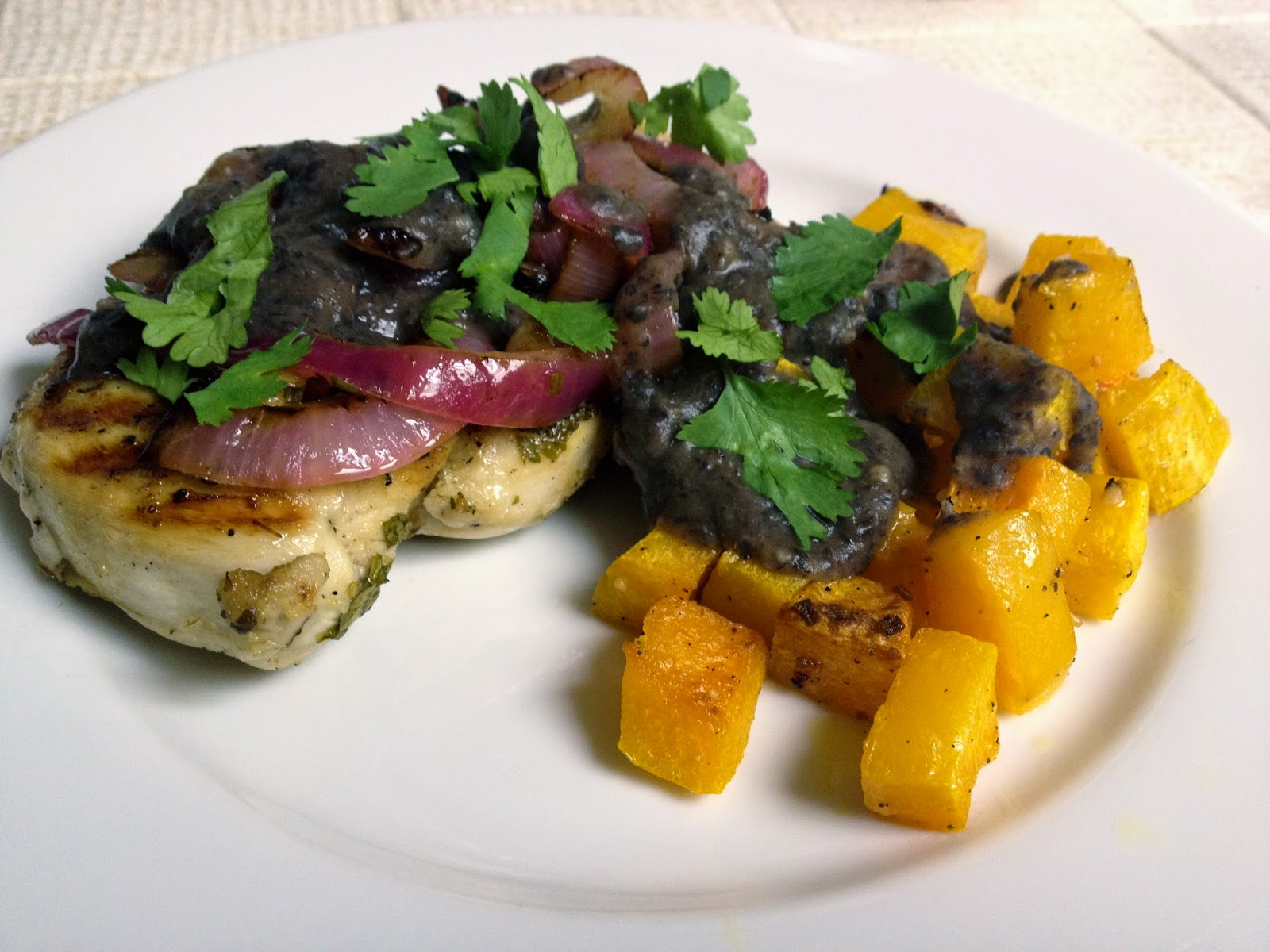 Foodie Journey: Grilled Lime-Chicken with Black Bean Sauce and Squash