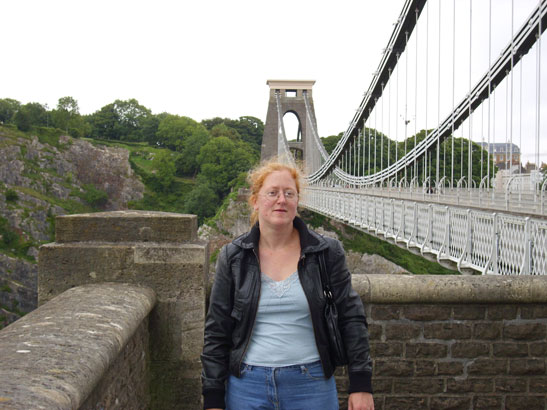 Me on August Bank Holiday 2009, at Clifton Suspension Bridge. This is the photo that changed my life
