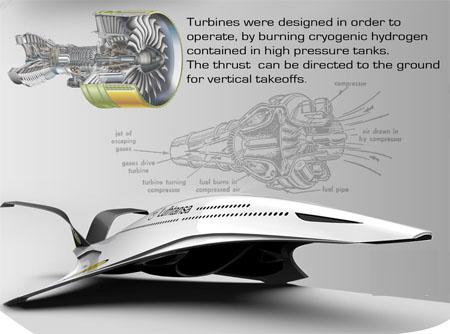 A350H Airliner desain konsep pesawat terbang masa depan