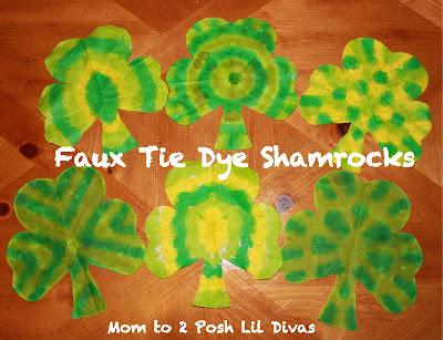 http://www.momto2poshlildivas.com/2012/02/faux-tie-dye-shamrocks-st-patricks-day.html