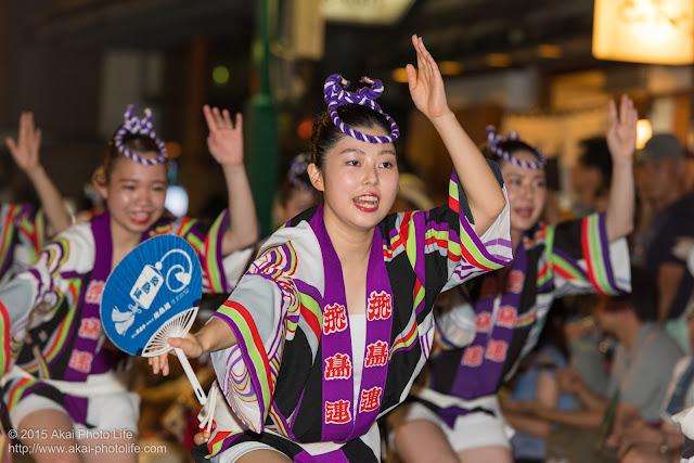 飛鳥連 東林間阿波おどり 女性の団扇踊り