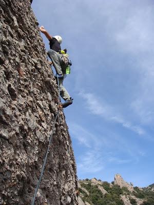 Vía Tuareg. Montserrat. Roca de la Palleta.