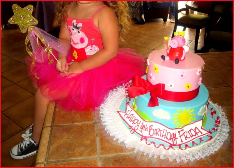 Peppa Pig Birthday Cake & Party Dress