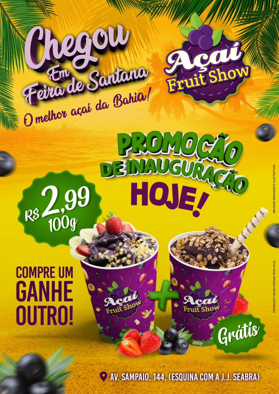 AÇAI FRUIT SHOW INAUGURAÇÃO AMANHÃ 07 DE DEZEMBRO