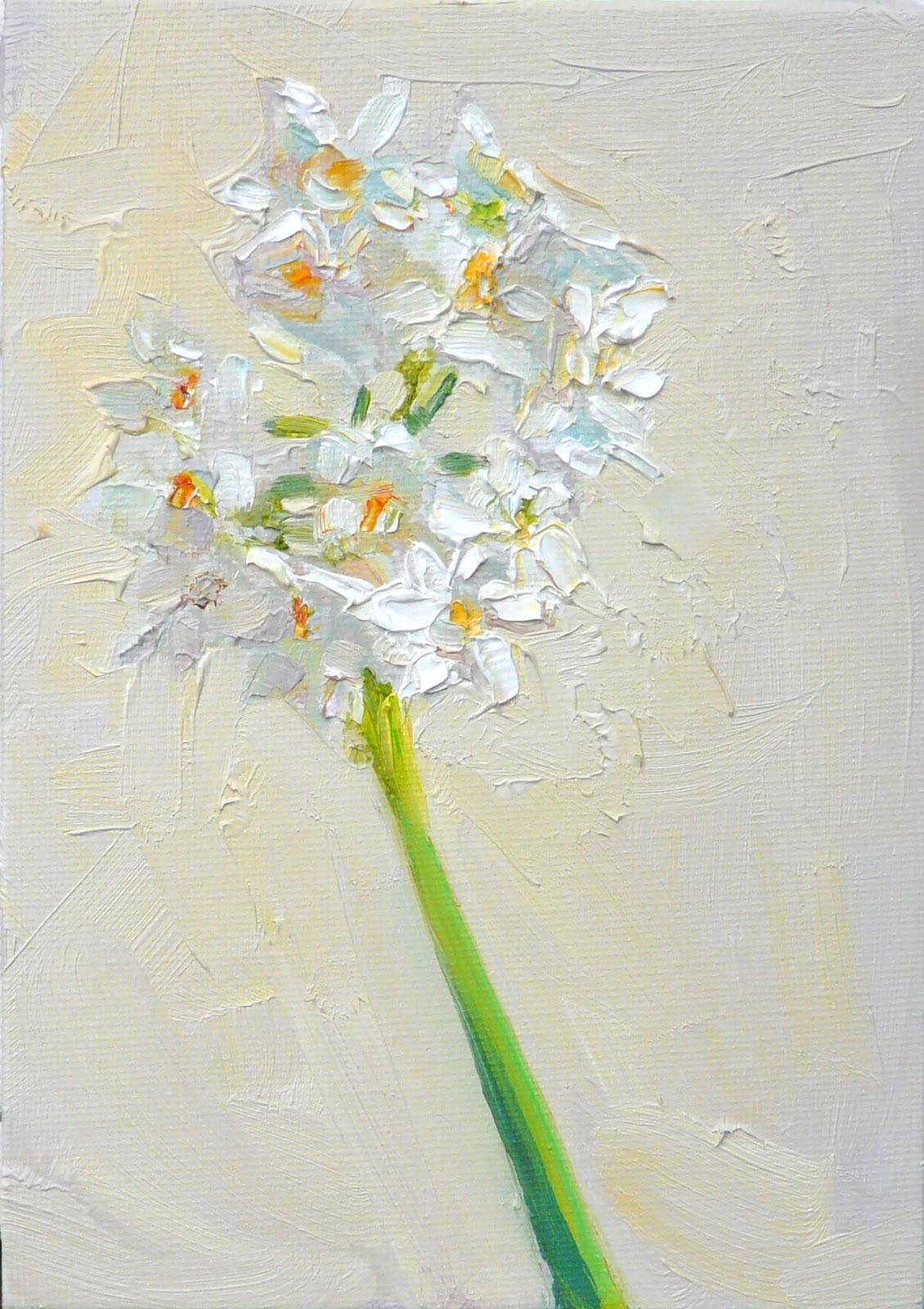 Art Every Day Paper Whites Flowersstill Lifeoil On Canvas7x5