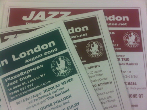 OCTOBER LISTINGS - JAZZ IN LONDON