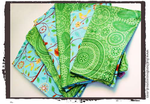 Feathers From My Nest: DIY - Sewing Cloth Napkins