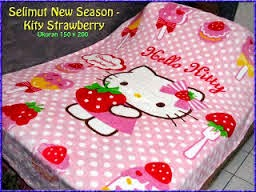 Grosir Selimut New Seasons Blanket Hello Kitty Strawberry