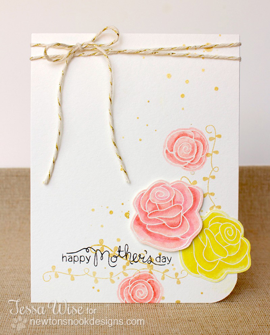 Mother's Day Rose card by Tessa Wise for Newton's Nook Designs | Love Grows