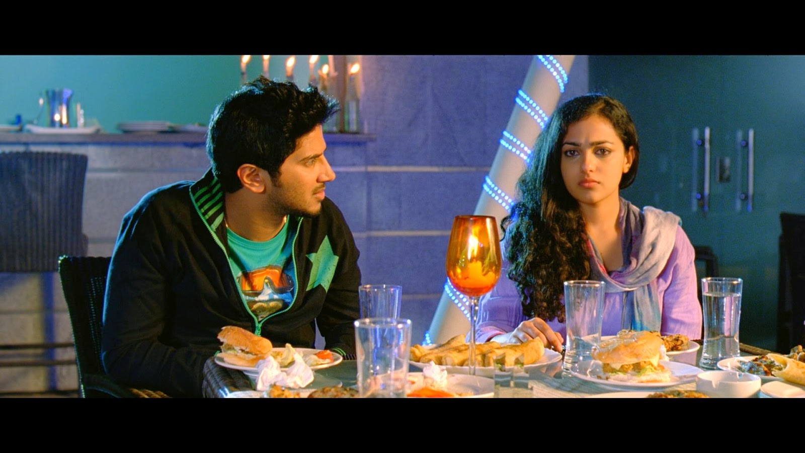 Dulquar with Malayalam actress nithya menon