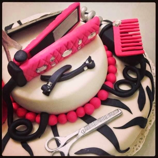 Hairdresser Cupcakes Hairstyle Cake