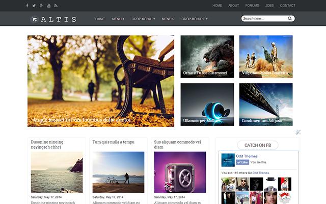 Template Keren Responsive untuk Blog Foto & Toko Online