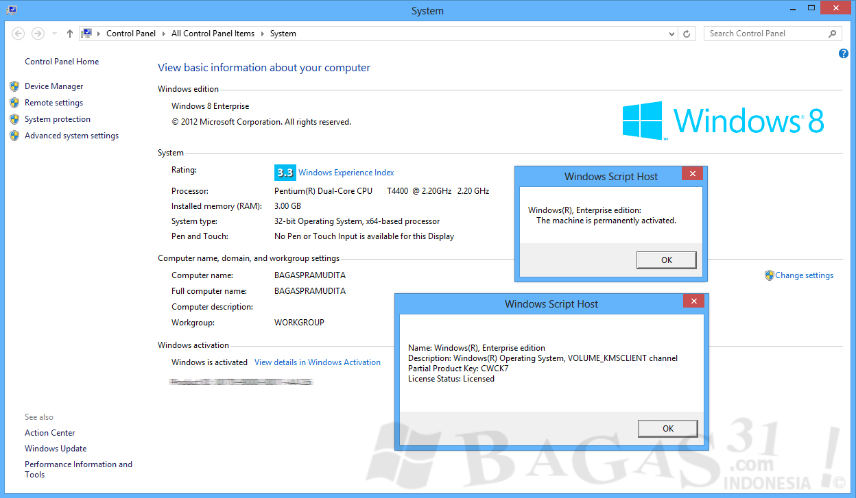 Windows 8 Activator (All Version 100% Work)