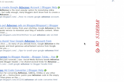 How to Hide Blogger Sidebar to Display AdSense For Search Results