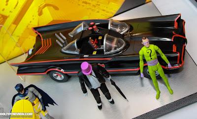 Mattel 2013 Toy Fair Display Pictures - Classic 1960's Batman figures - Batmobile