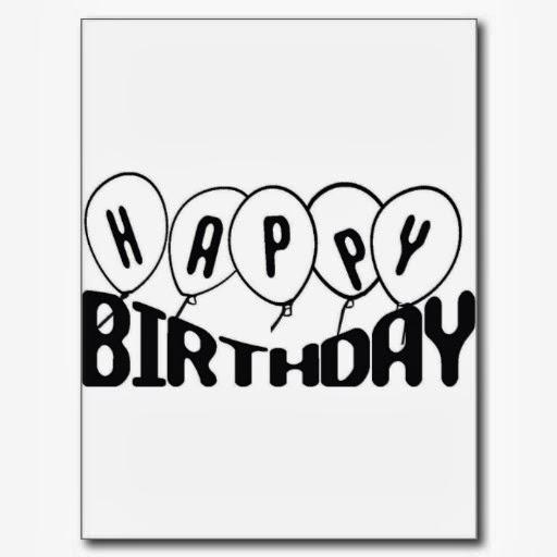 Banco de Imagenes y fotos gratis Tarjetas de Cumpleaños en Blanco y Negro